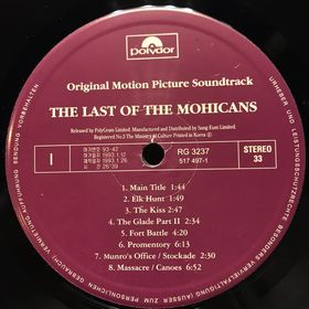 Дом Винила - The Last Of The Mohicans'93
