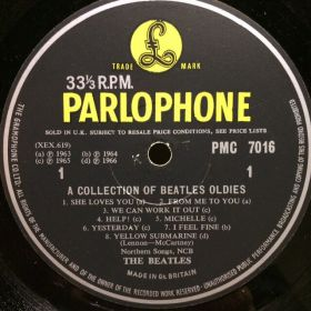 Дом Винила 2 - Beatles – 1966 – A Collection Of Beatles Oldies (mono)