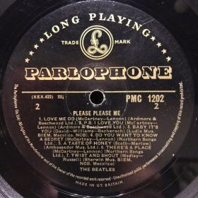 Дом Винила 3 - ​​Beatles – 1963 – Please Please Me – Parlophone – UK (mono gold label)