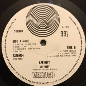 Дом Винила 2 - ​​Affinity – 1970 – Vertigo – UK